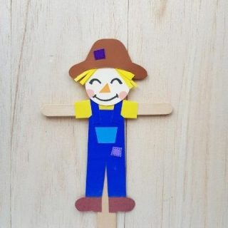 Scarecrow Puppet Craft with Popsicle Stick