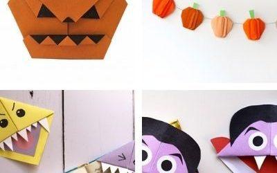 halloween origami kids
