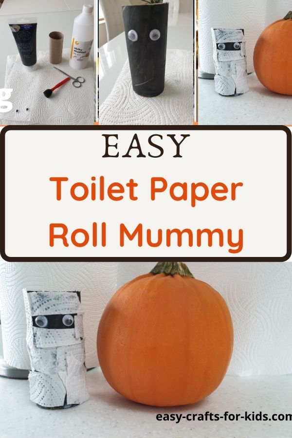 Mummy Craft with Toilet Paper Rolls