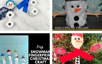 winter preschool crafts with snowmen