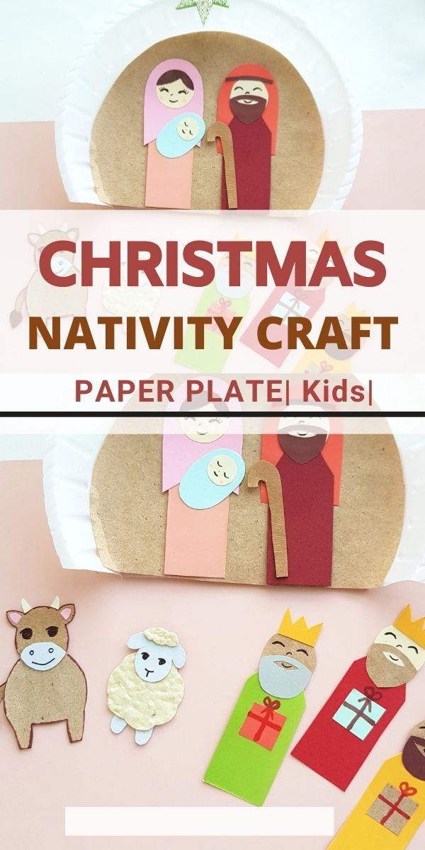 Christmas Nativity Crafts with Paper Plate