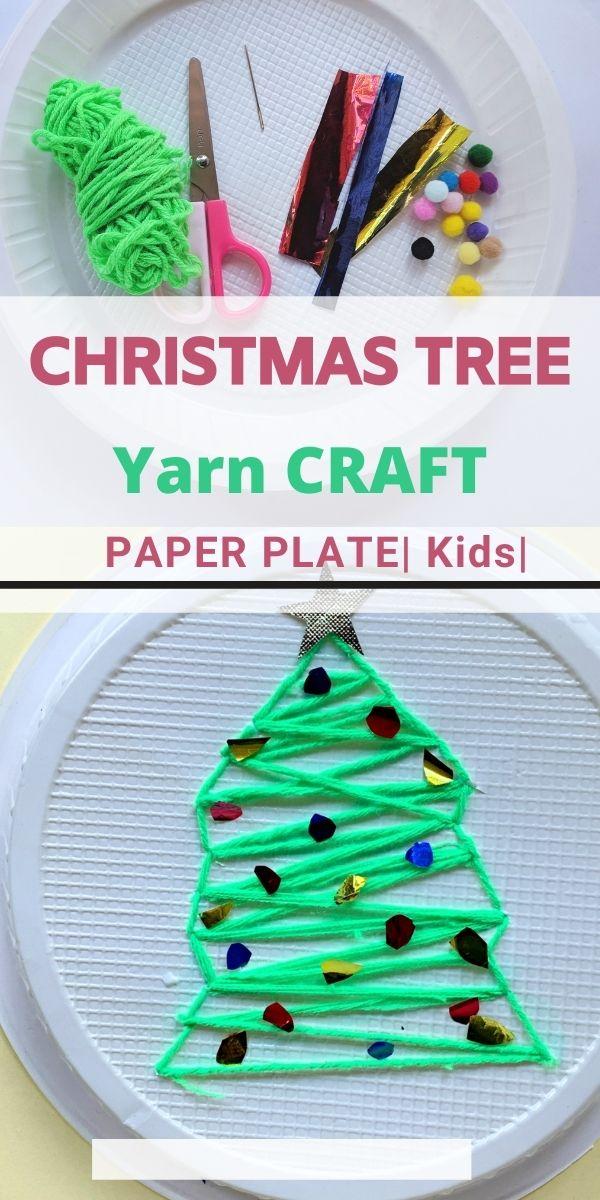 Yarn Christmas Tree Craft