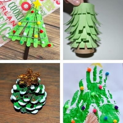 children christmas tree crafts