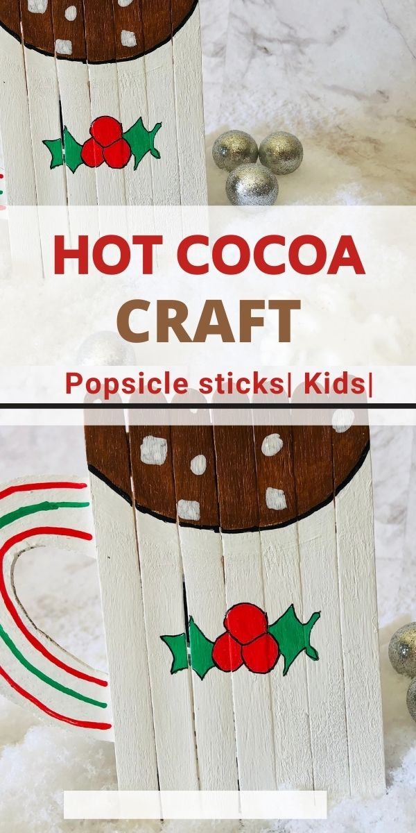 hot cocoa craft with popsicle sticks