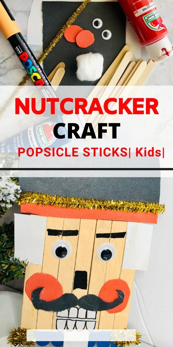 nutcracker craft with popsicle sticks