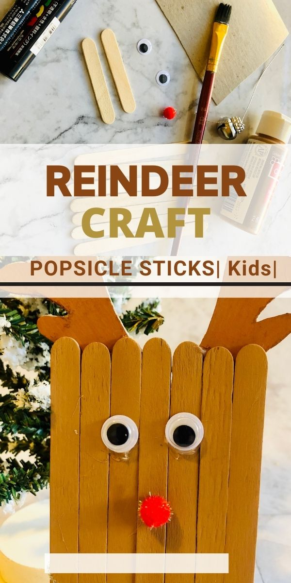 reindeer craft with popsicle sticks