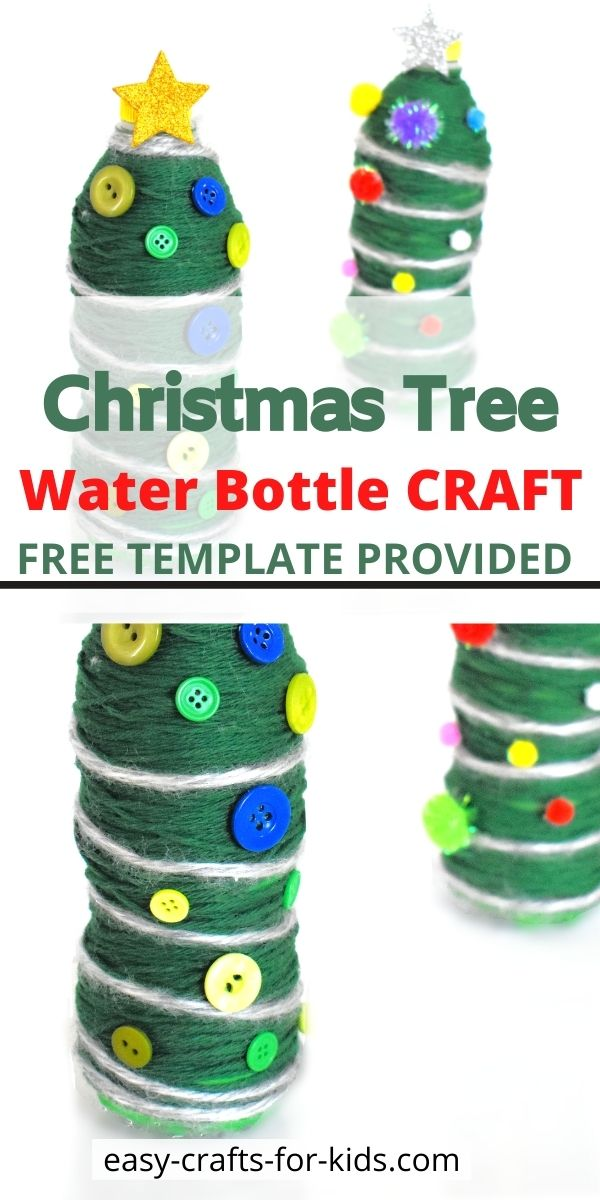 Christmas Tree Water Bottle Crafts for Kids