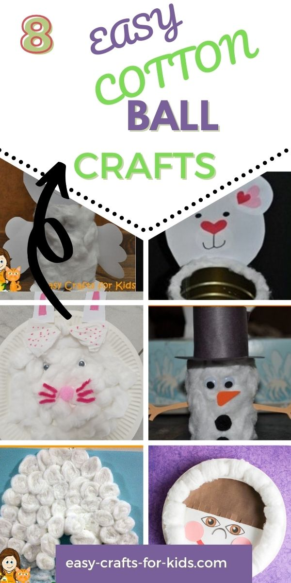 Cotton Ball Crafts for Kids