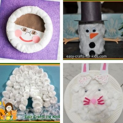 Easy crafts with cotton balls