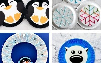 Easy paper plate crafts for winter