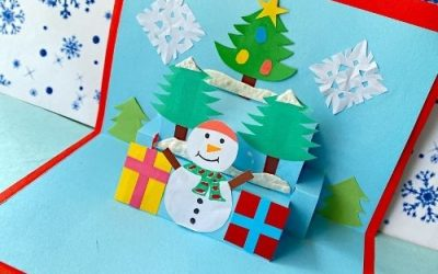 How to Make 3D Snowman Card