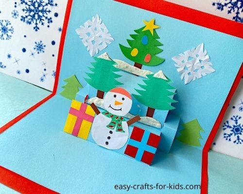 How to Make 3D Snowman Card