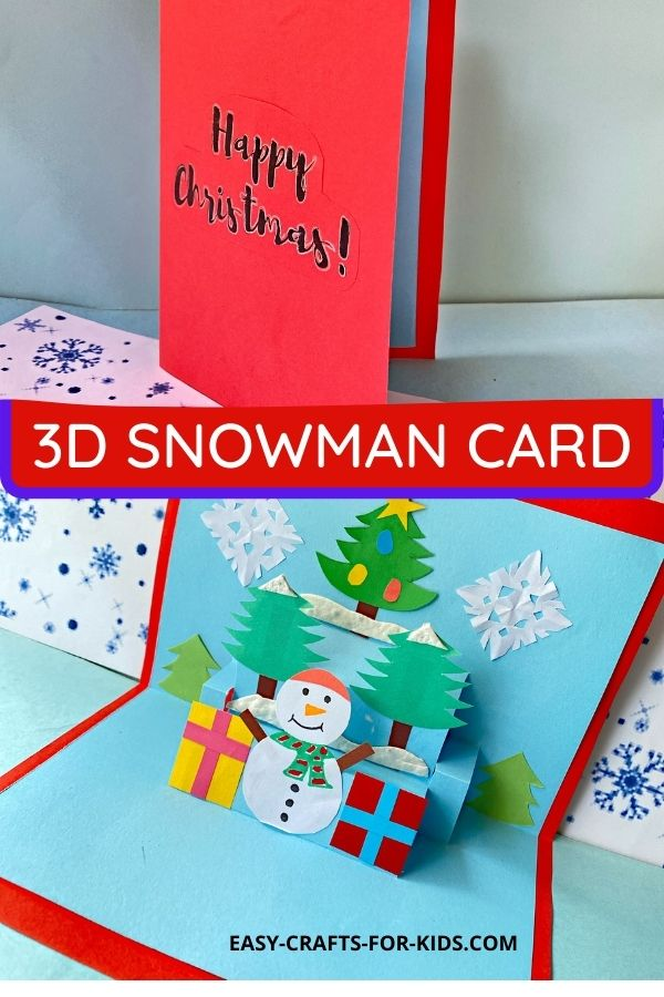 Snowman Pop Up Cards for Christmas
