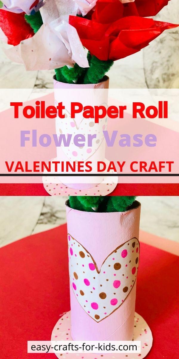 Toilet Paper Roll Flower Vase