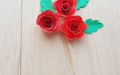 easy paper roses craft for kids