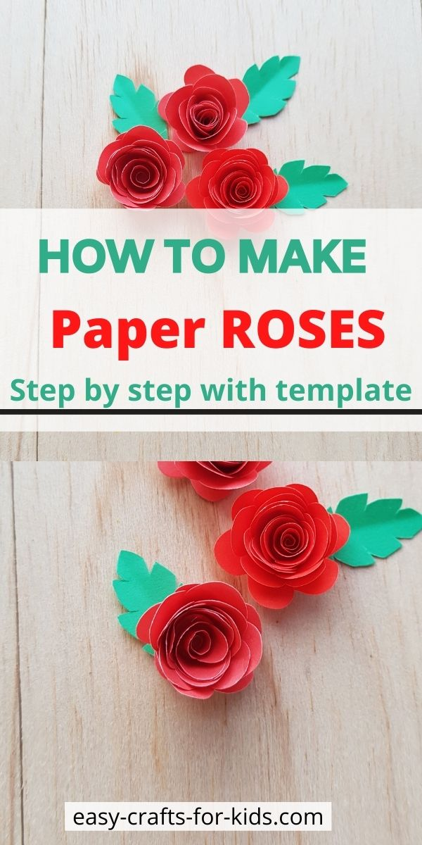 Easy Rose Craft with Paper