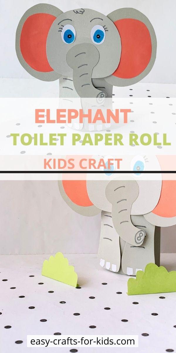 Manualidad con rollo de papel higiénico elefante