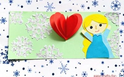 Elsa Heart Pop Up Card
