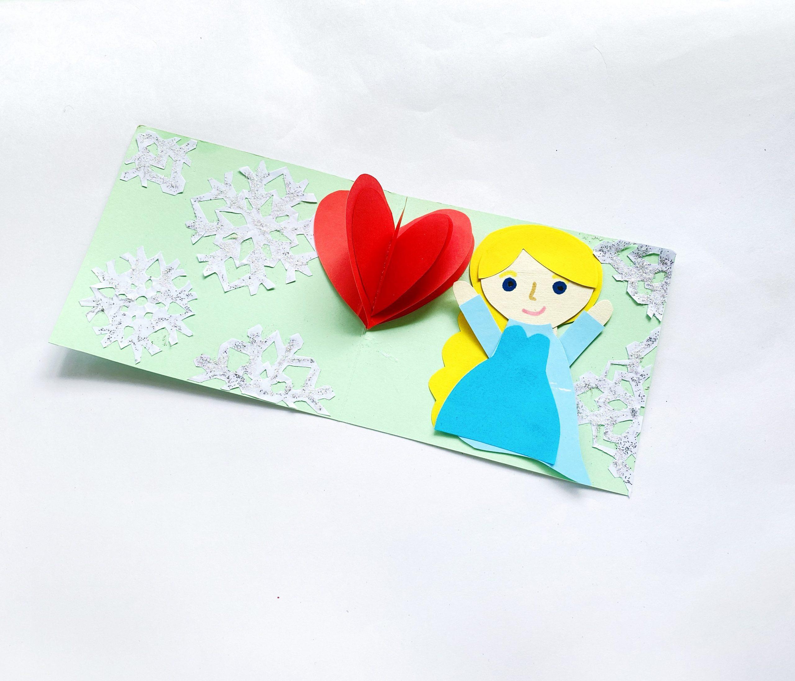 Elsa Valentine card craft