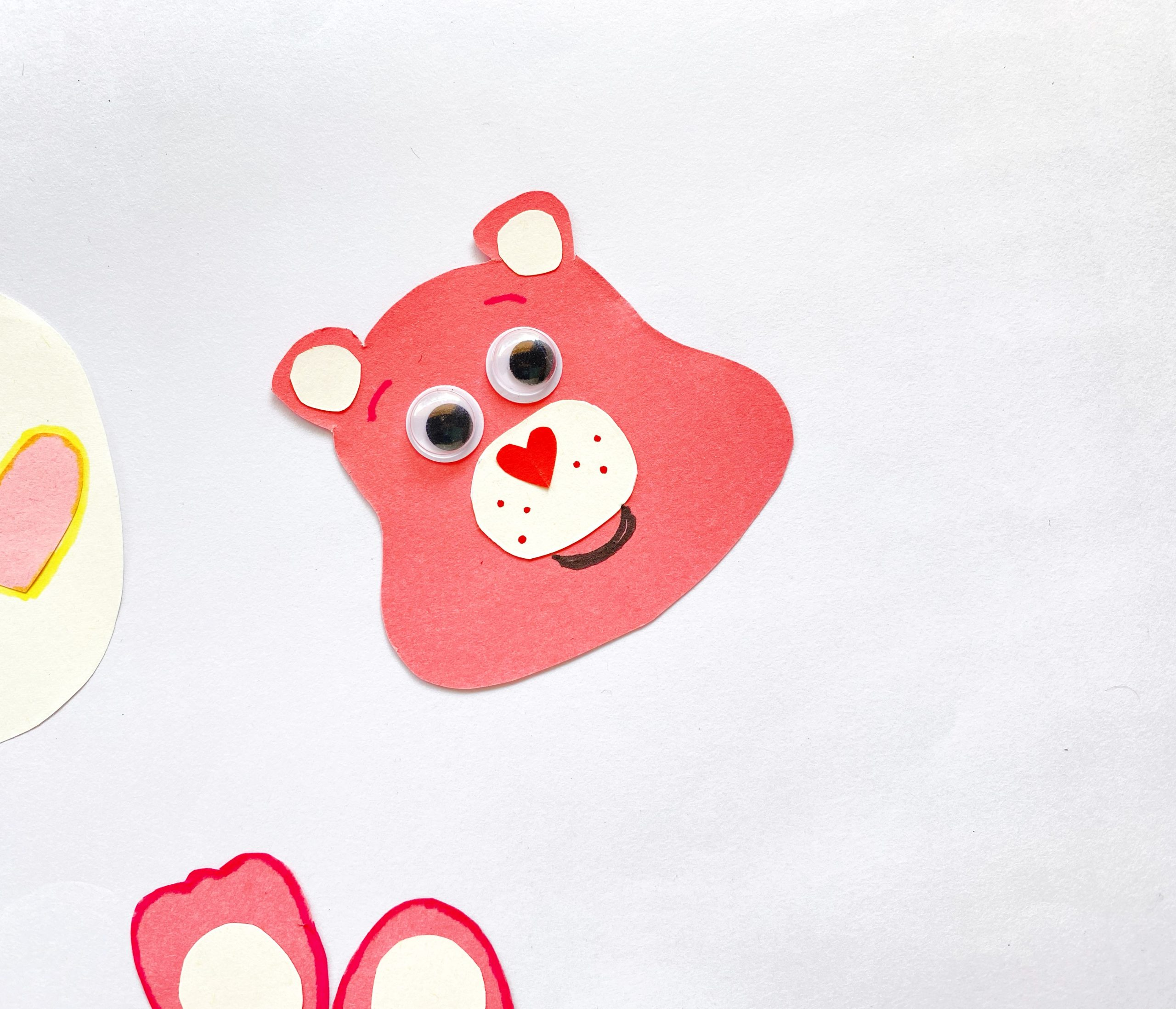 Love-a-Lot Bear craft step by step