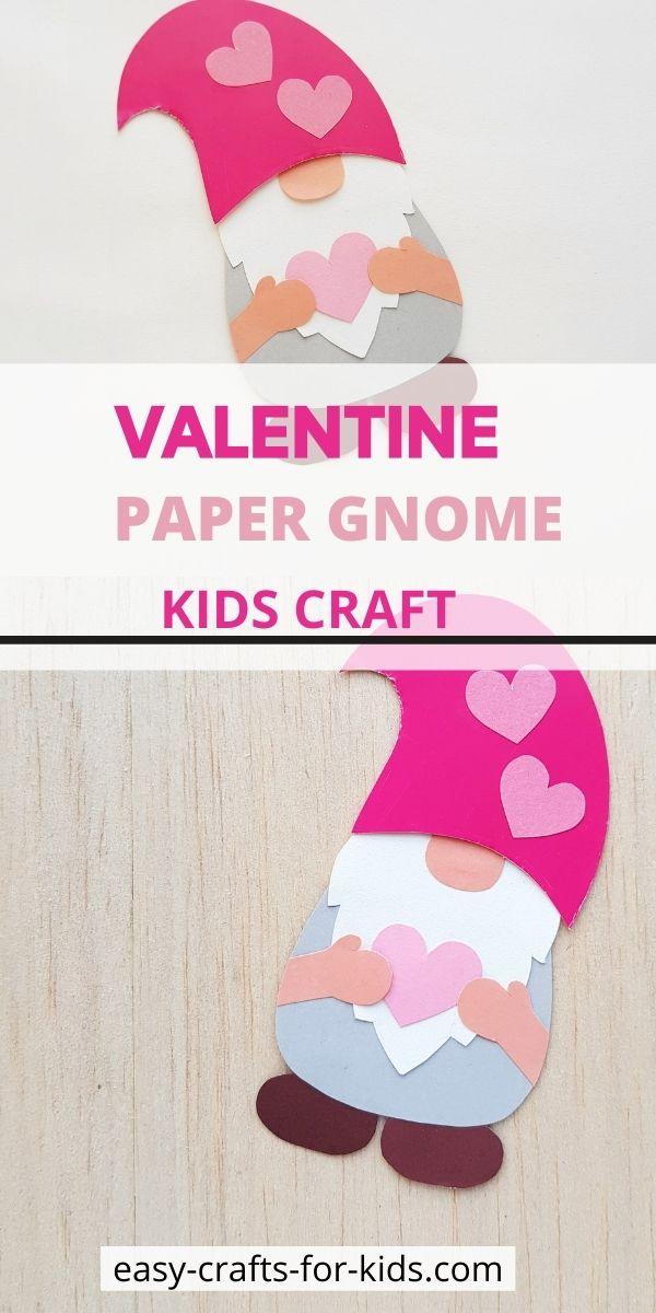 Valentine Gnome Craft for Kids