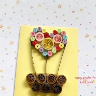 Valentine Hot Air Balloon Craft