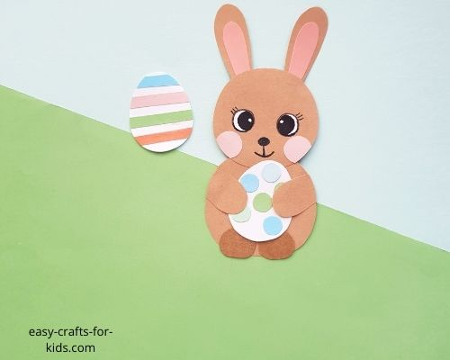 Easter bunny egg craft for 3 year olds