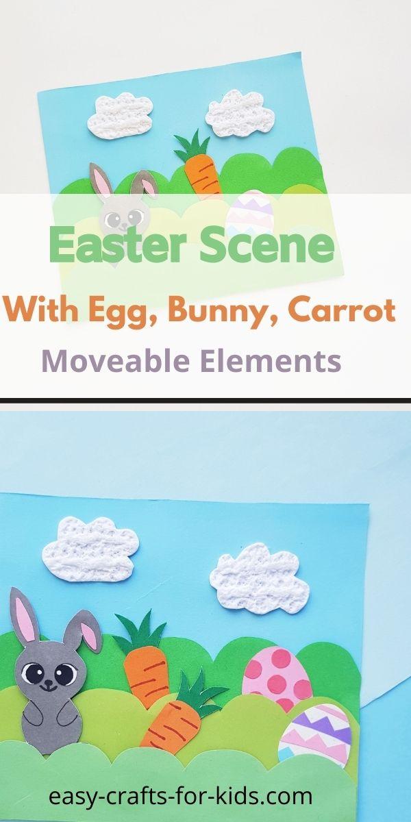 Artesanía de escena de Pascua para niños