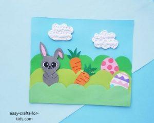 Easter Scene Paper Craft for Kids