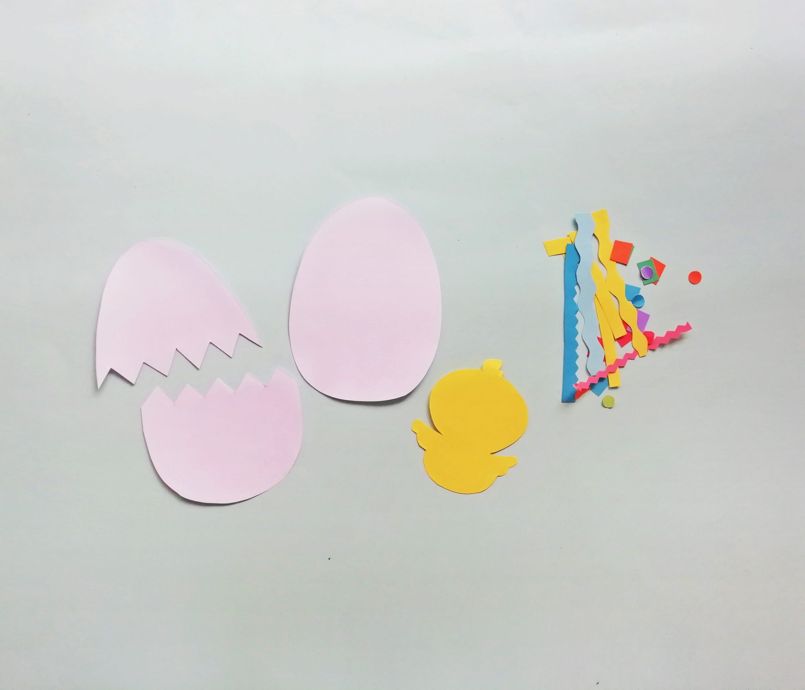Easter hatching chick craft supplies