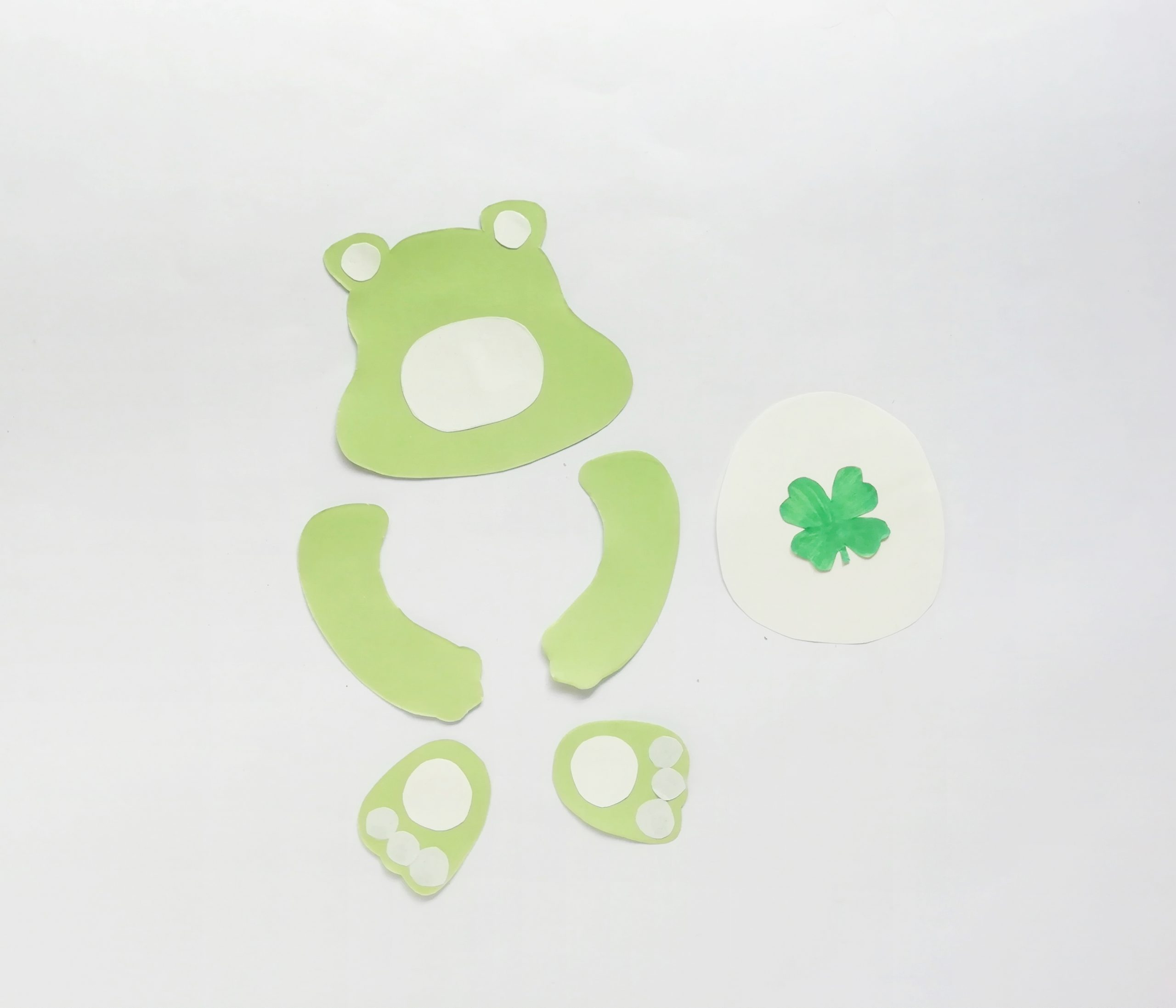 good luck bear craft step by step