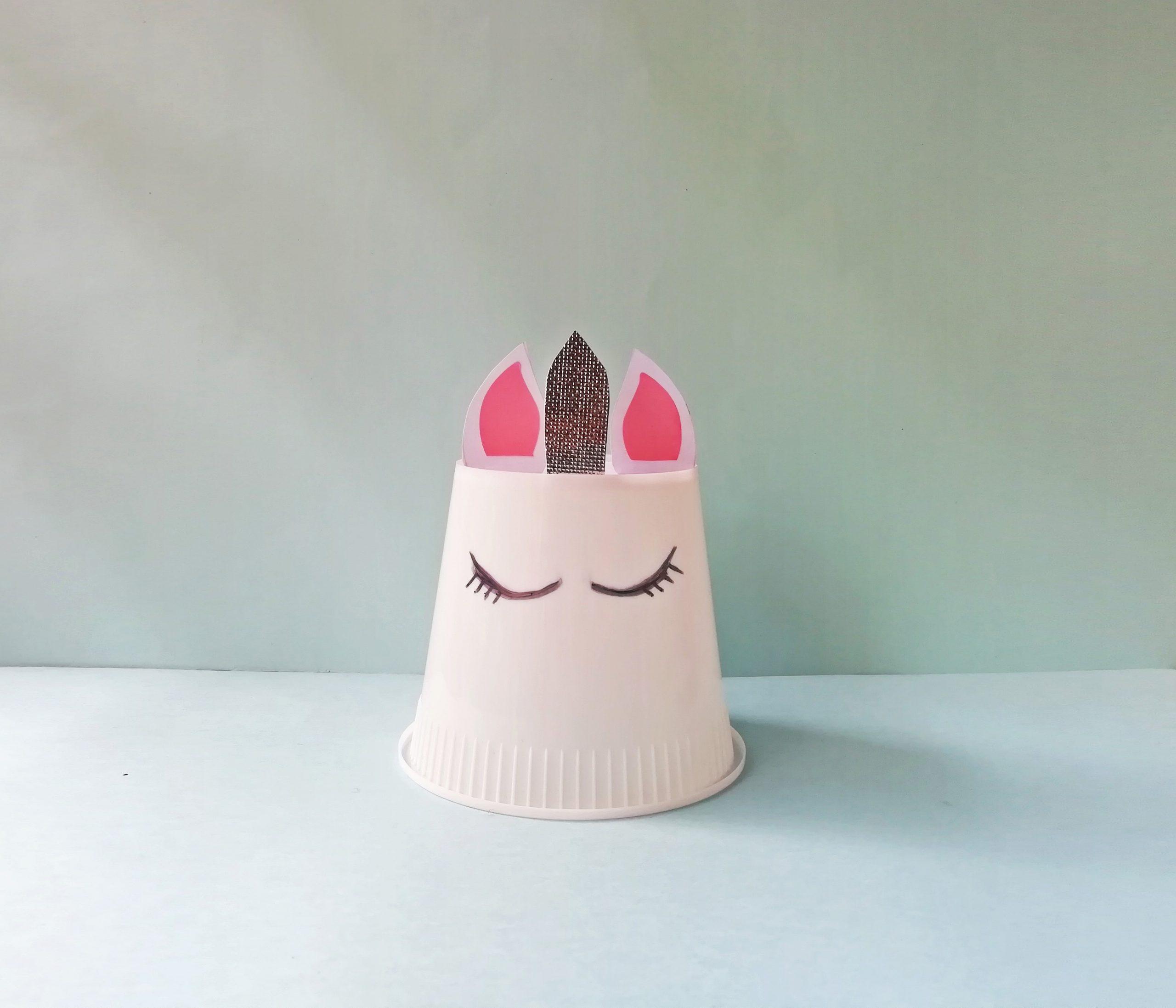 procedimiento paso a paso de unicornio cup craft