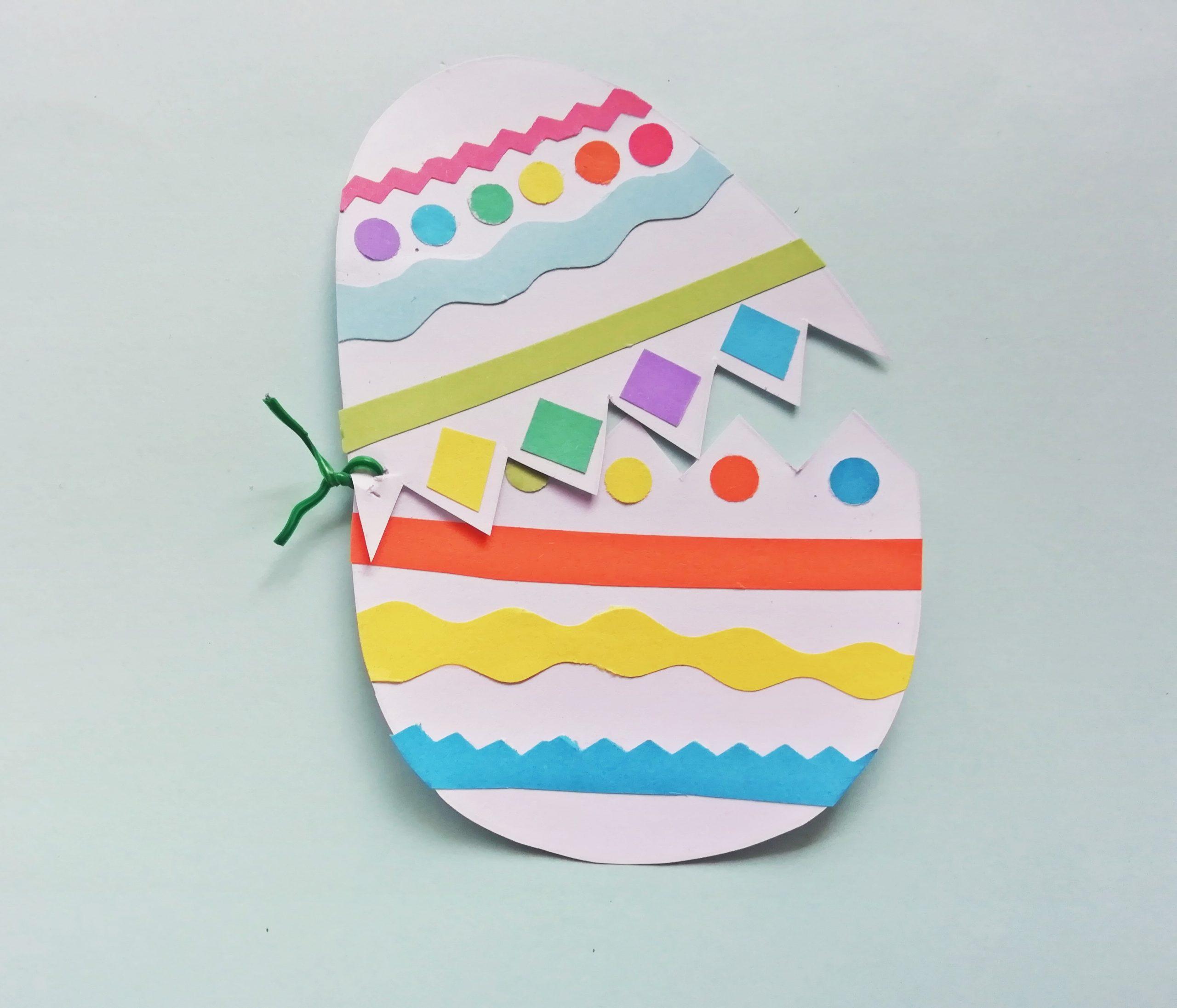 Easter hatching egg