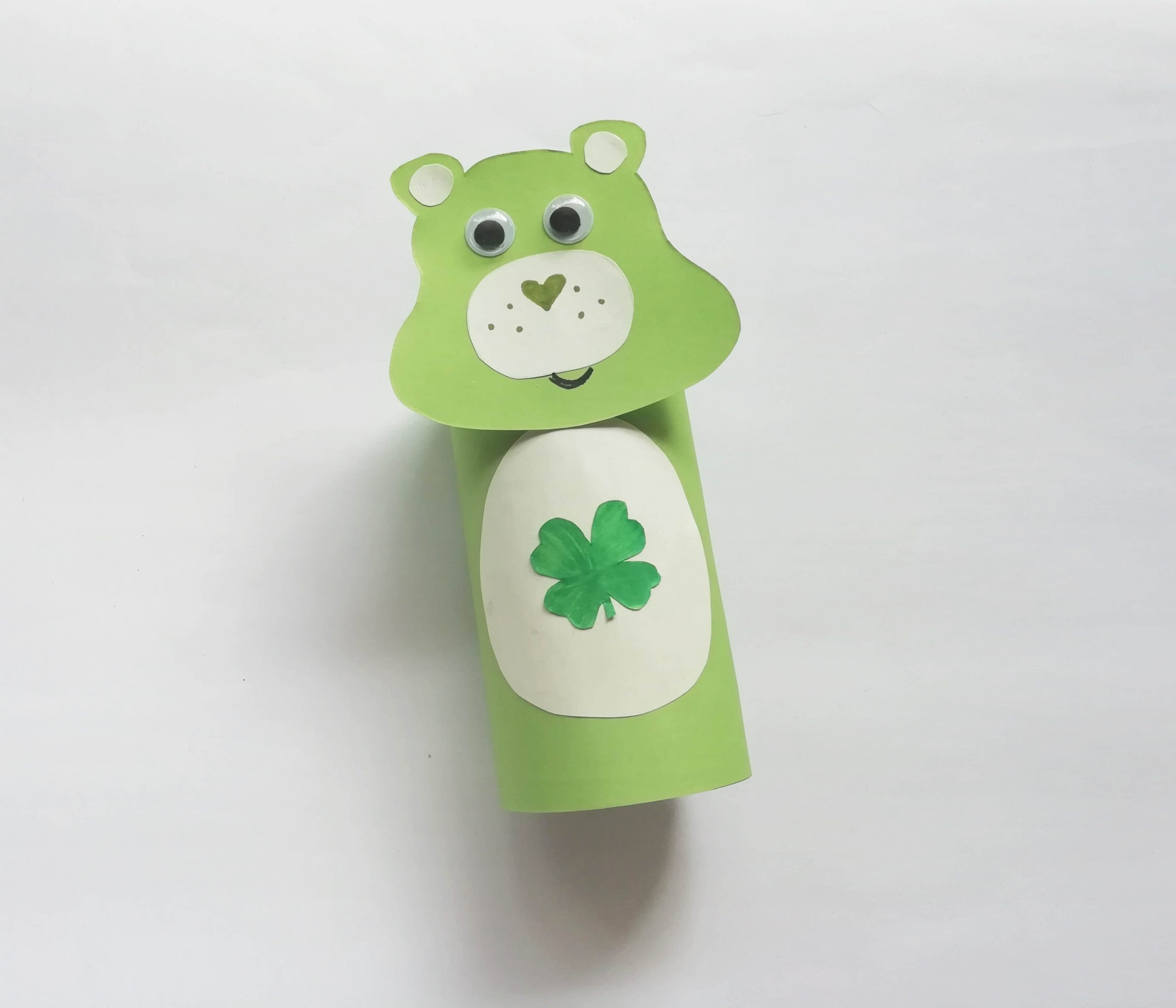 green care bear paper roll craft