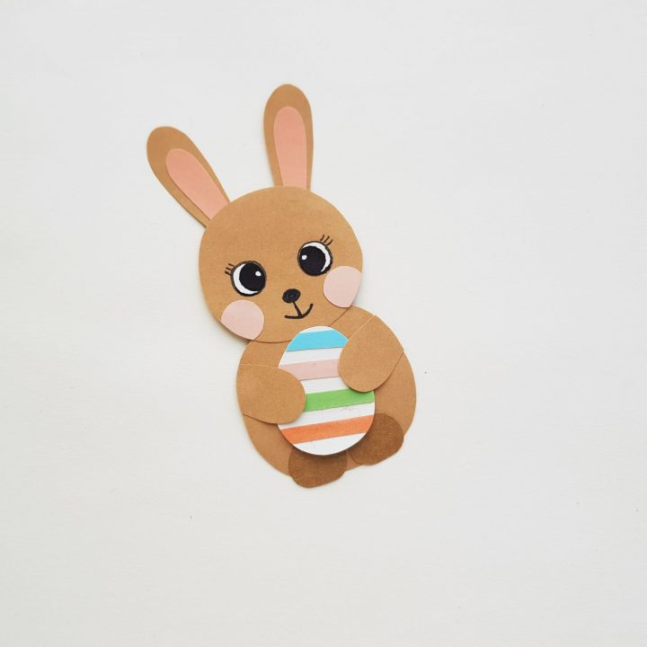 easter bunny with egg craft