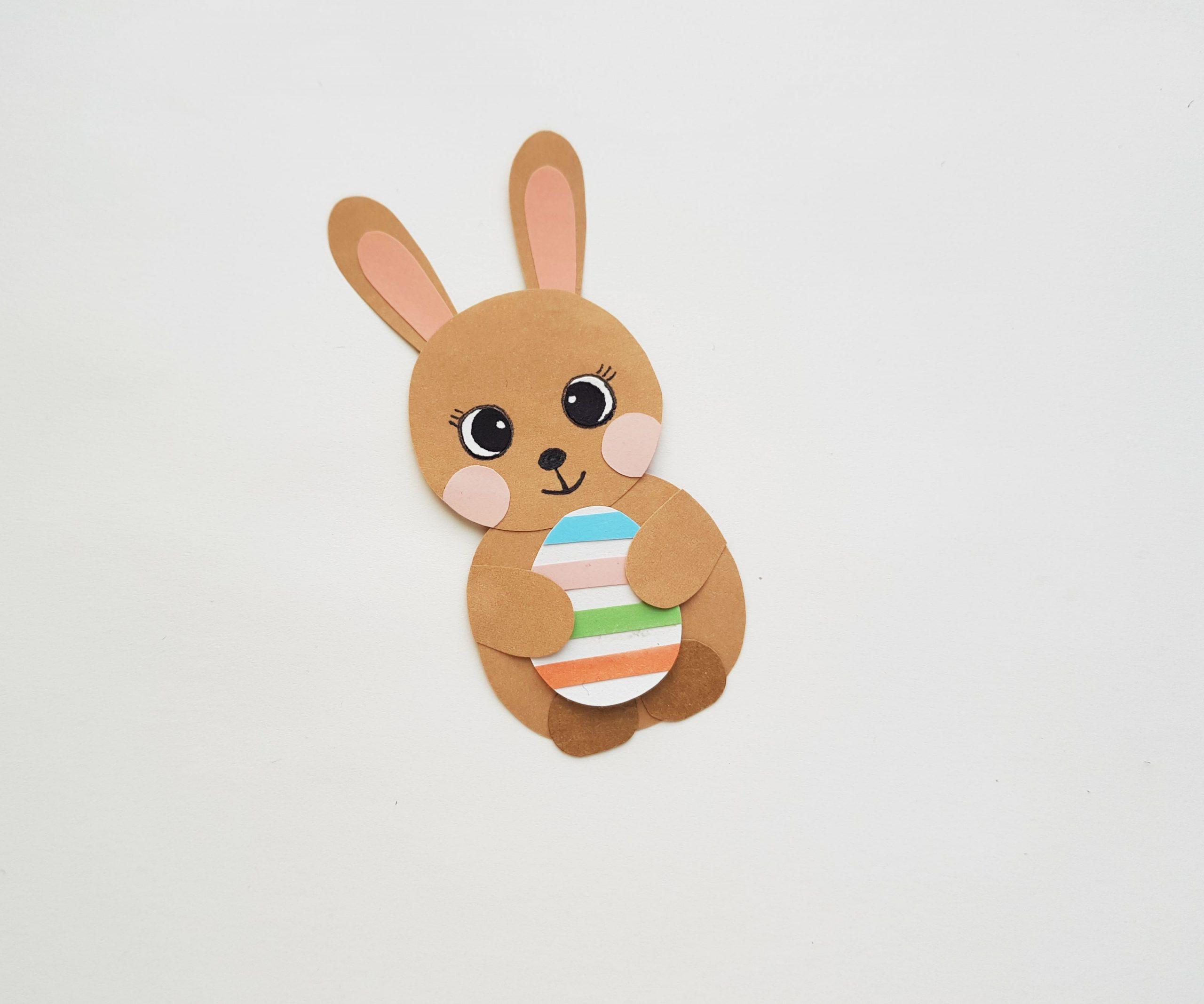 conejito de pascua con huevo artesanal
