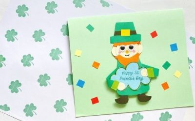 leprechaun pop up card for st patrick's day