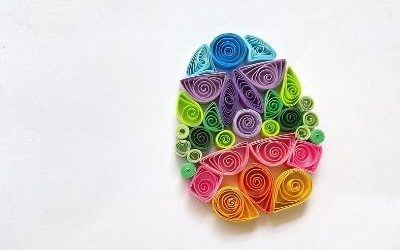 paper quilling easter egg