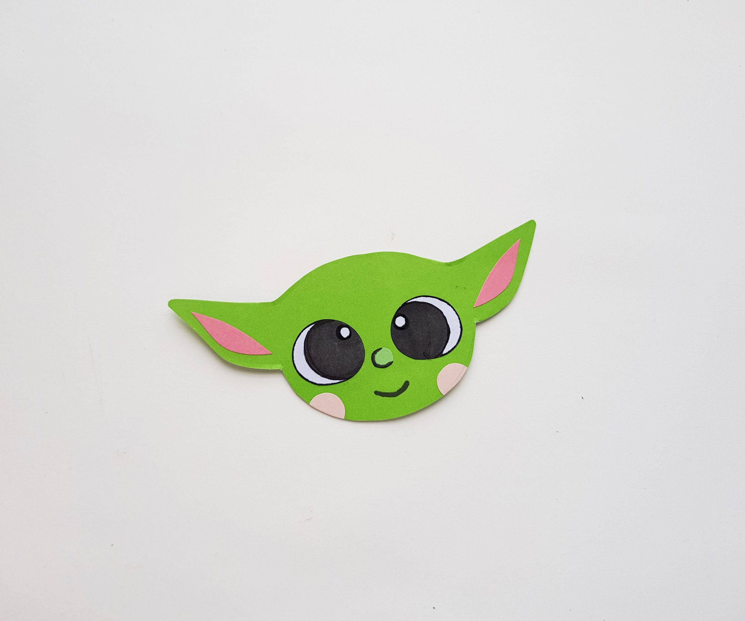 Baby yoda craft step by step craft with paper and scissors