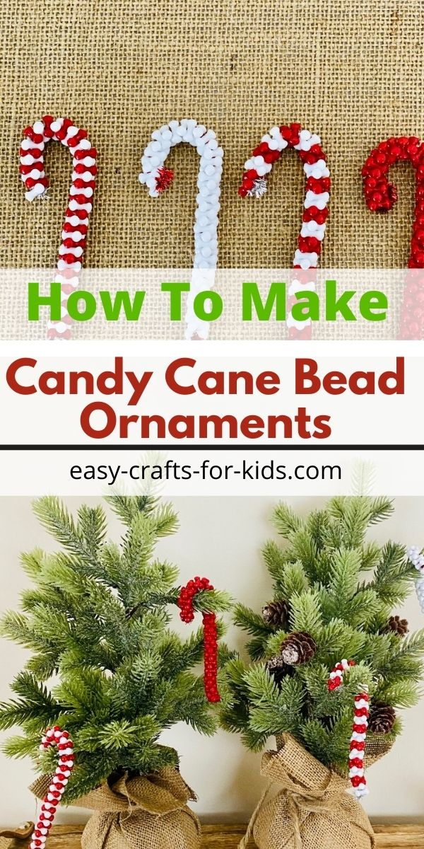 Candy Cane Ornaments with Beads