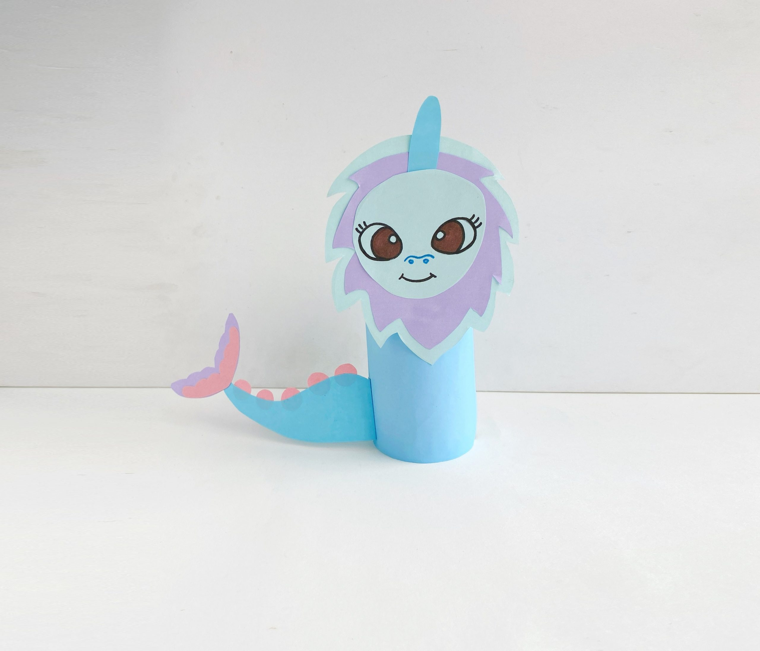Dragon Craft with Toilet Paper Roll