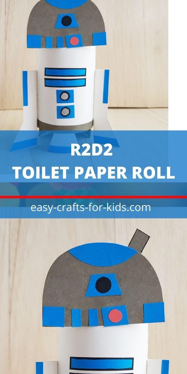 Artesanía R2D2 con rollo de papel higiénico