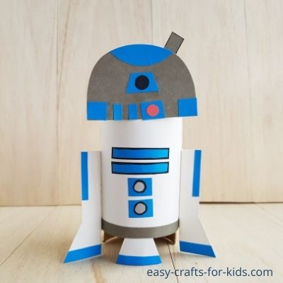 R2D2 Toilet Paper Roll Craft