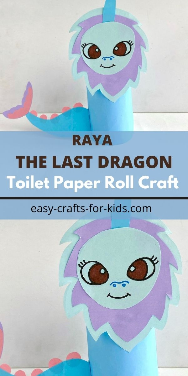 Raya and The Last Dragon Toilet Paper Roll Craft