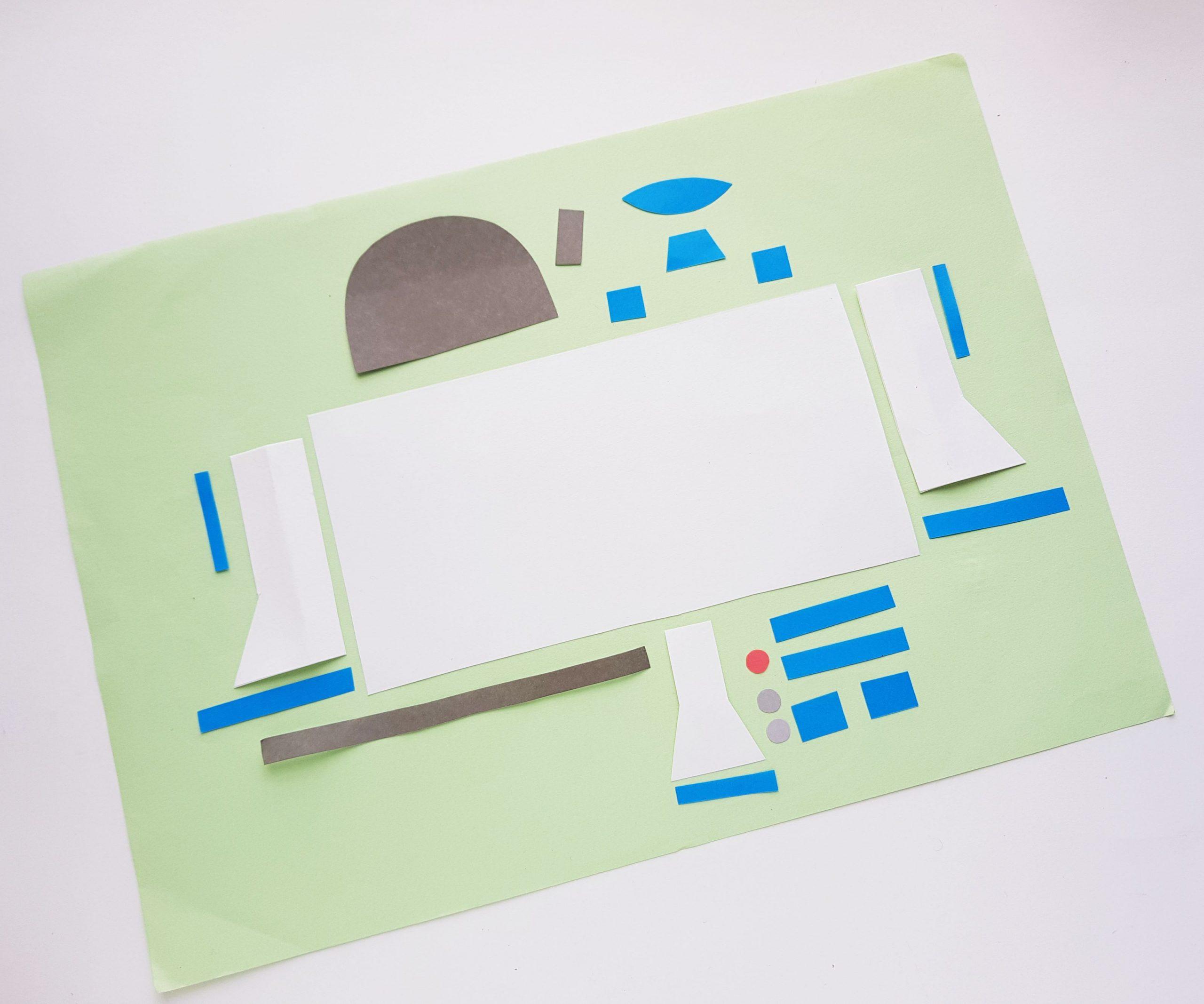 Cómo hacer R2D2 con rollo de papel higiénico