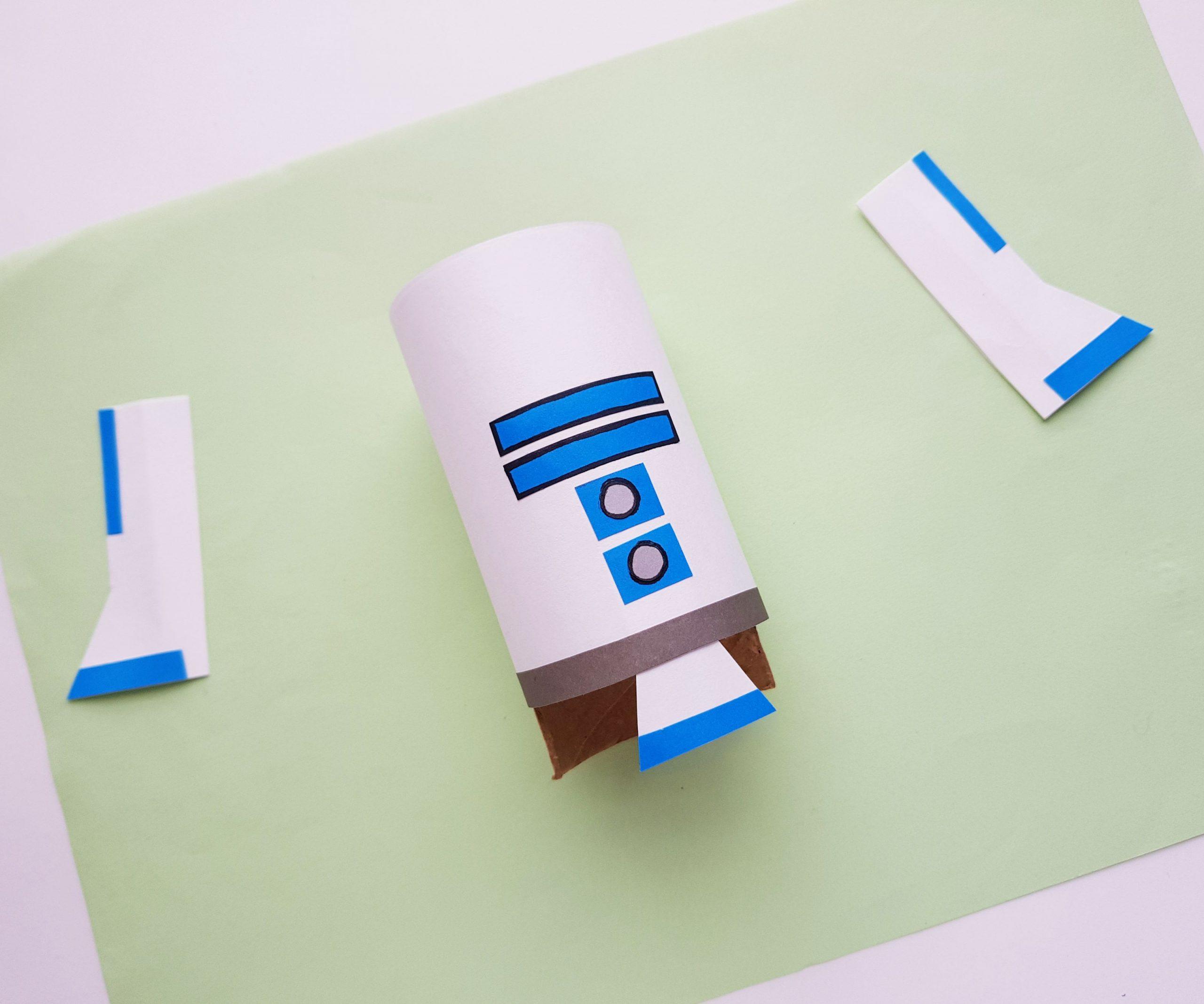 Star Wars Toilet Paper Roll R2D2 Craft