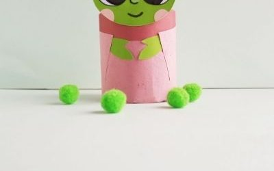 easy baby Yoda craft with paper roll
