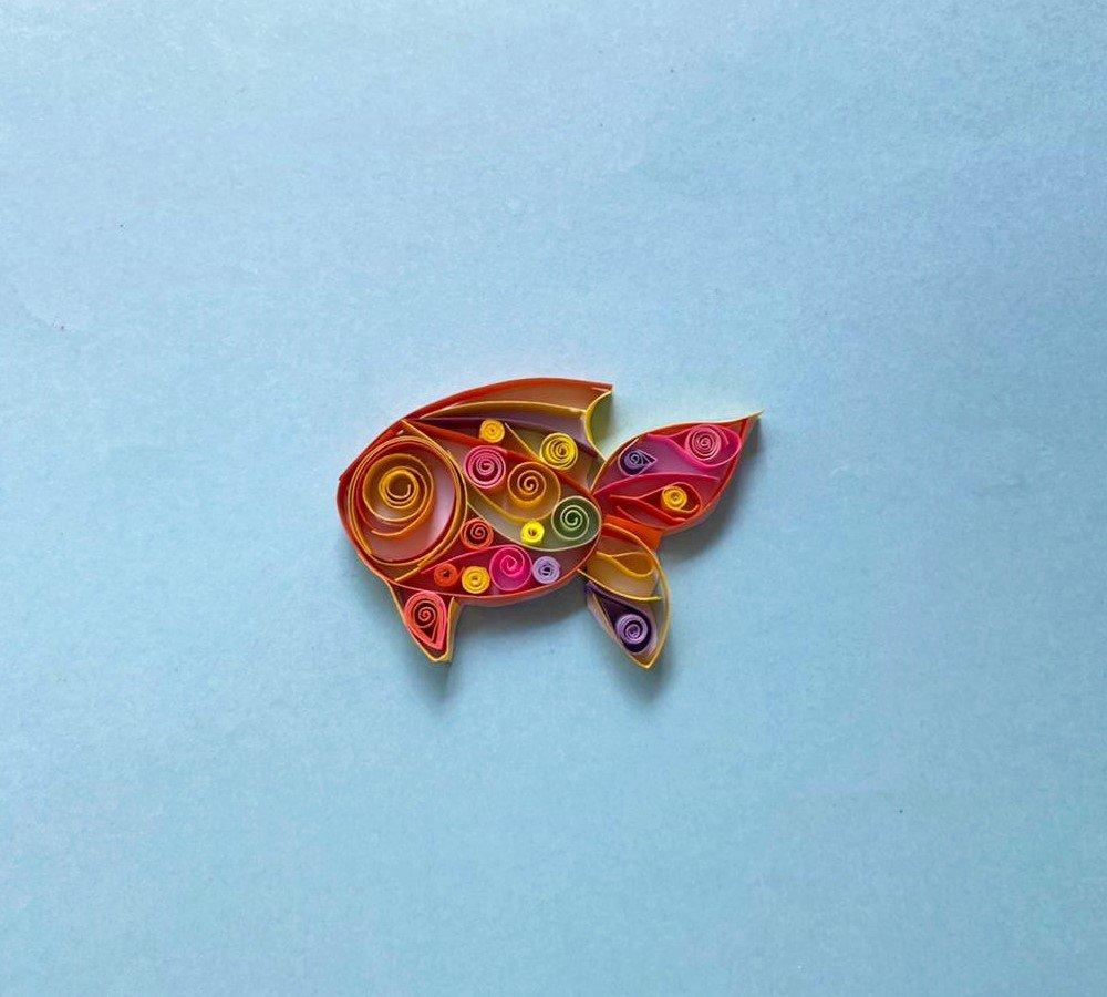 artesanía de peces de colores para niños