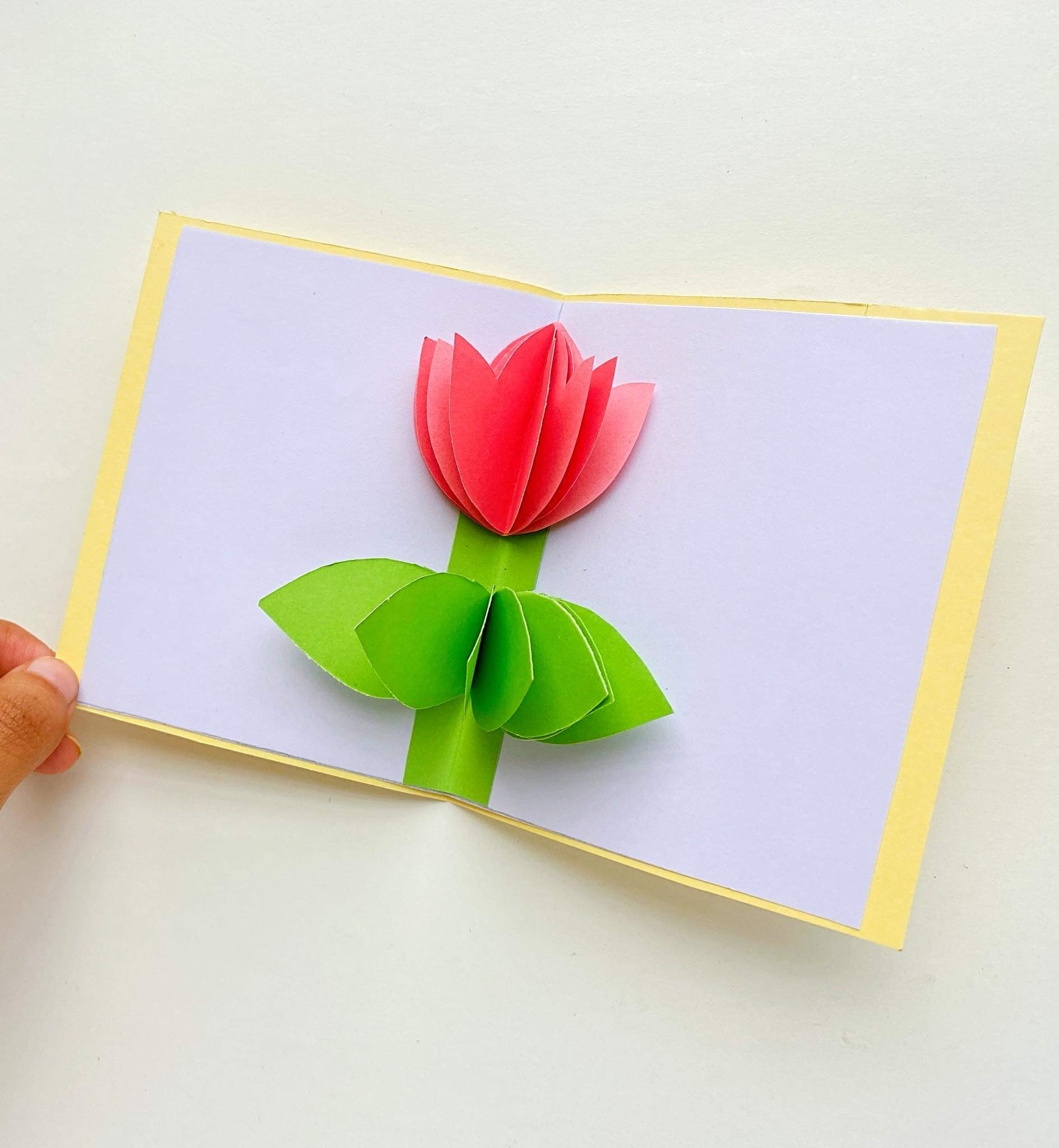 how to make a 3d tulip flower pop up card