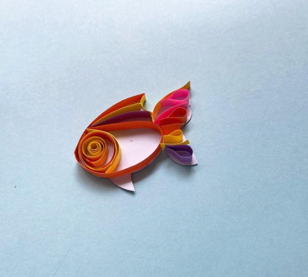 como hacer un pez dorado de papel